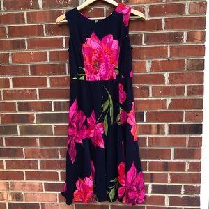Floral dress jersey material very comforta…
